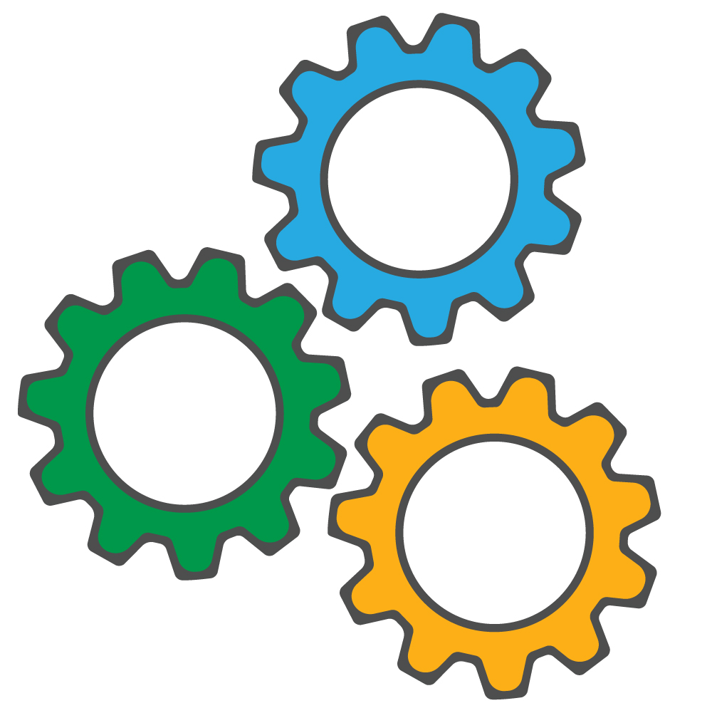 Gears representing automation